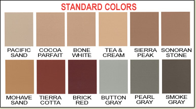 Xcelsurfaces Standard Colors