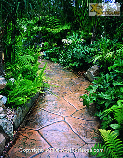 Stamped Overlayment on a Secluded Path