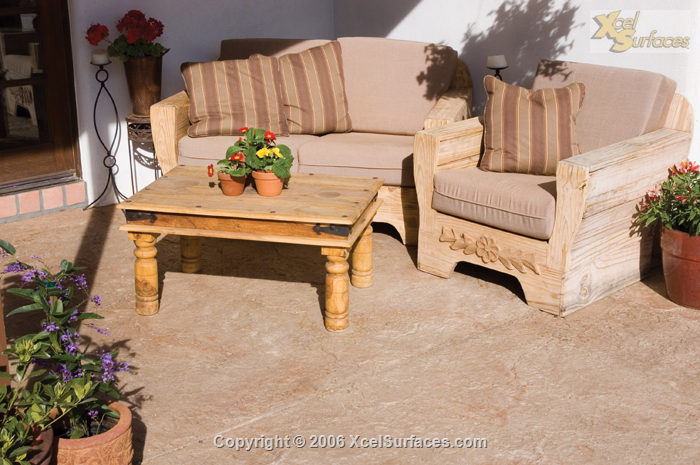 Stamped Sitting area